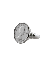 Von Treskow Authentic Sixpence Coin Ring - Silver - Mocha