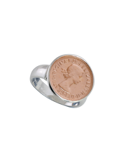 Von Treskow Authentic Threepence Coin Ring - Rose Gold - Mocha