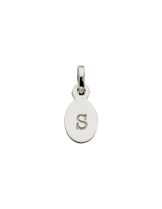 Kirstin Ash Initial Charm w/ Sterling Silver - S - Mocha