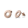 Von Treskow Studs Earrings w/ VT Disc - Rose Gold
