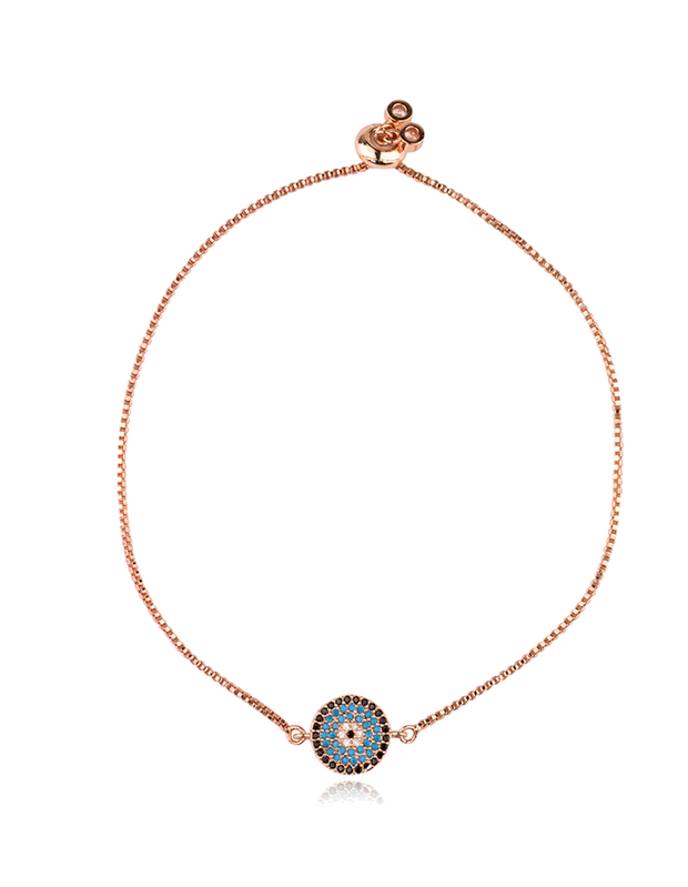 Mocha Small Circle Of Life Bracelet - Rose Gold - Mocha