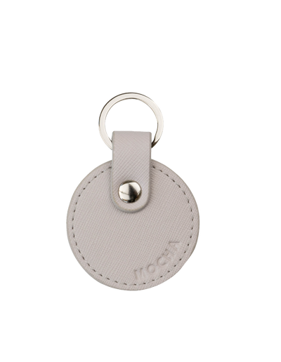 Mocha Jane Leather Key Ring - Grey - Mocha