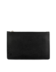 Mocha Small Jane Leather Clutch - Black - Mocha