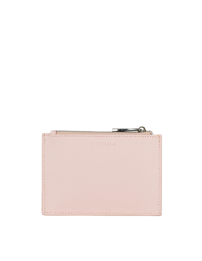 Mocha Jane Leather Coin Purse - Blush - Mocha