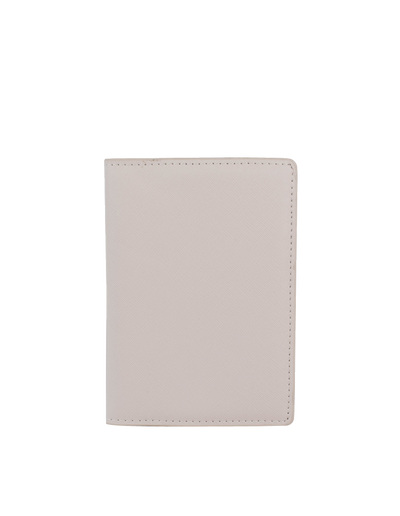Mocha Jane Leather Passport Holder - Grey - Mocha