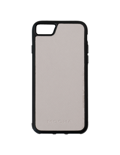 Mocha Jane Leather Hard Case For iPhone SE / 8 / 7 - Grey - Mocha