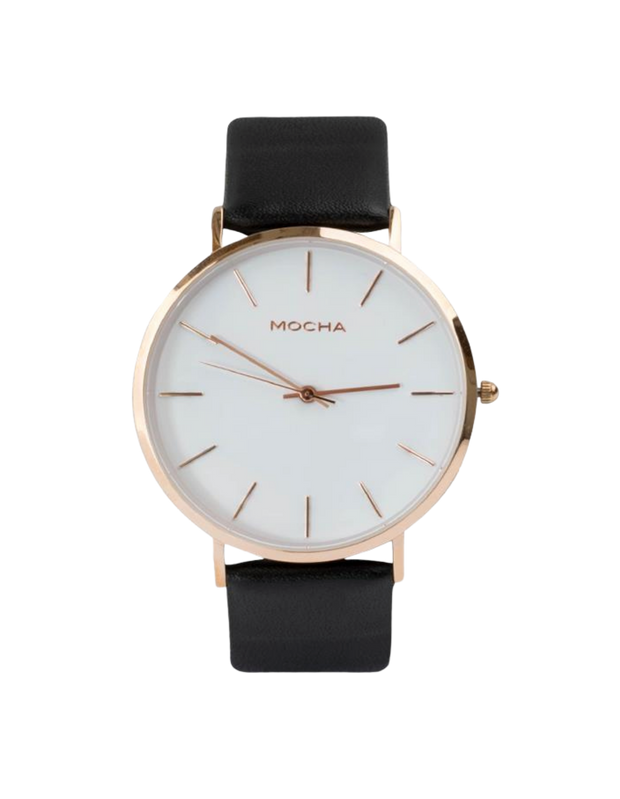 Mocha 41mm Watch - White/Rose Gold/Black - Mocha