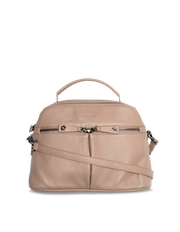 Mocha Rachel Leather Bag - Taupe - Mocha