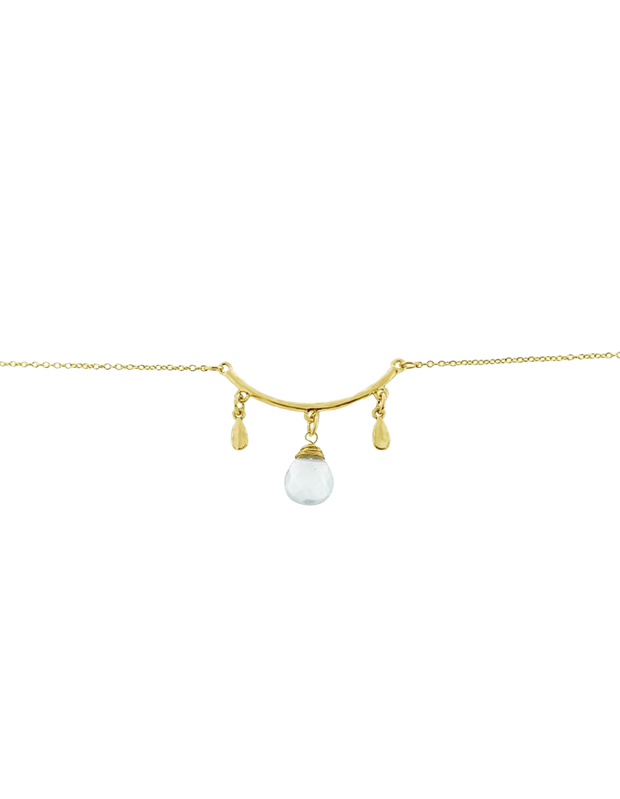 Elly Lou Palm Spring Drop Bracelet - Light Gold/Light Jade - Mocha
