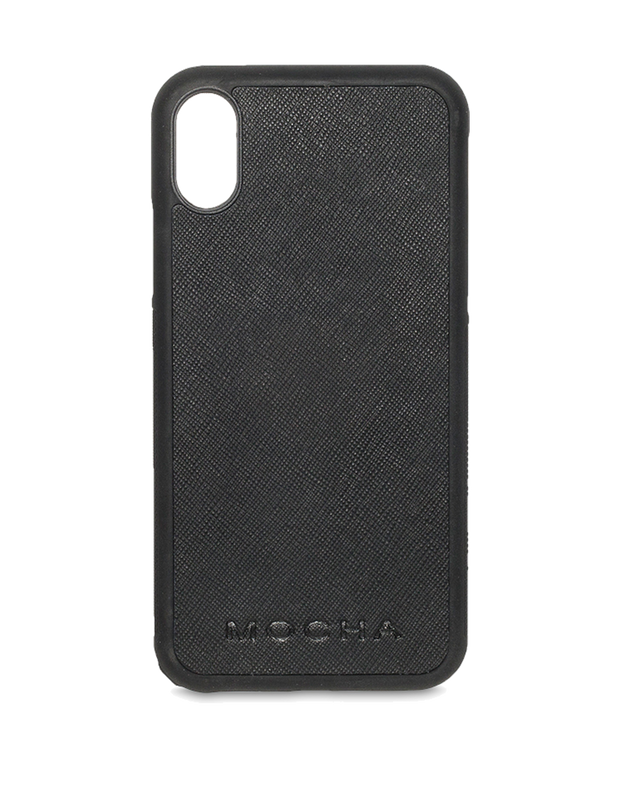Mocha Jane Leather Hard Case For iPhone XS / X - Black - Mocha