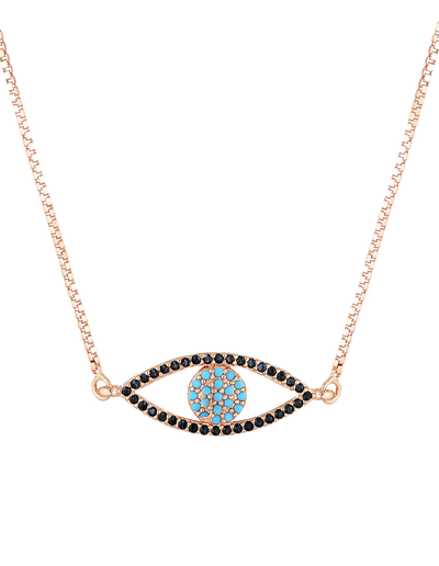 Mocha Watch Over Me Necklace - Rose Gold - Mocha