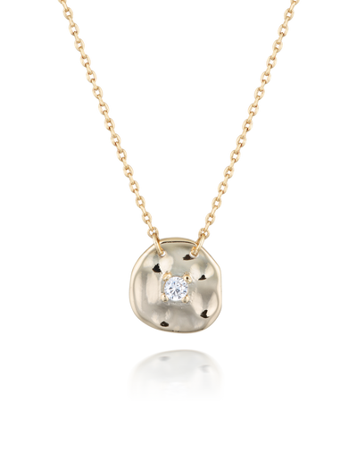 Elly Lou Cleo Necklace - Gold/Cubic Zirconia - Mocha