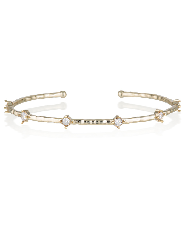 Elly Lou Cleo Bangle - Gold - Mocha