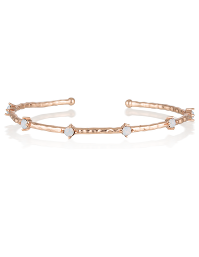 Elly Lou Cleo Bangle - Rose Gold - Mocha