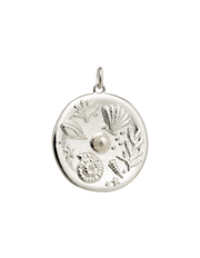 Kirstin Ash By The Sea Coin Charm w/ Sterling Silver - Mocha