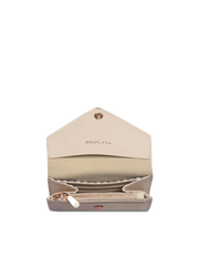 Mocha Envelop Leather Coin Wallet - Blush
