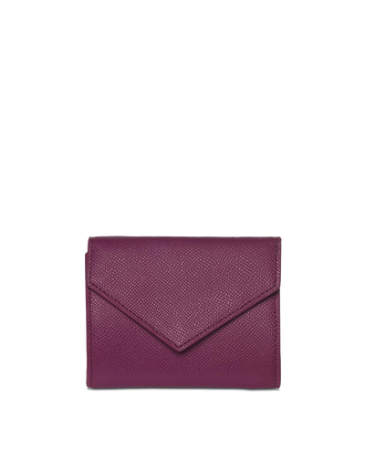 Mocha Envelop Leather Coin Wallet - Fuchsia - Mocha