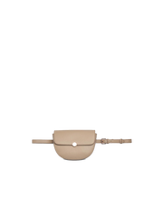 Mocha Brianna Leather Belt Bag - Taupe - Mocha