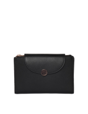 Mocha Brianna Leather Wallet - Black - Mocha