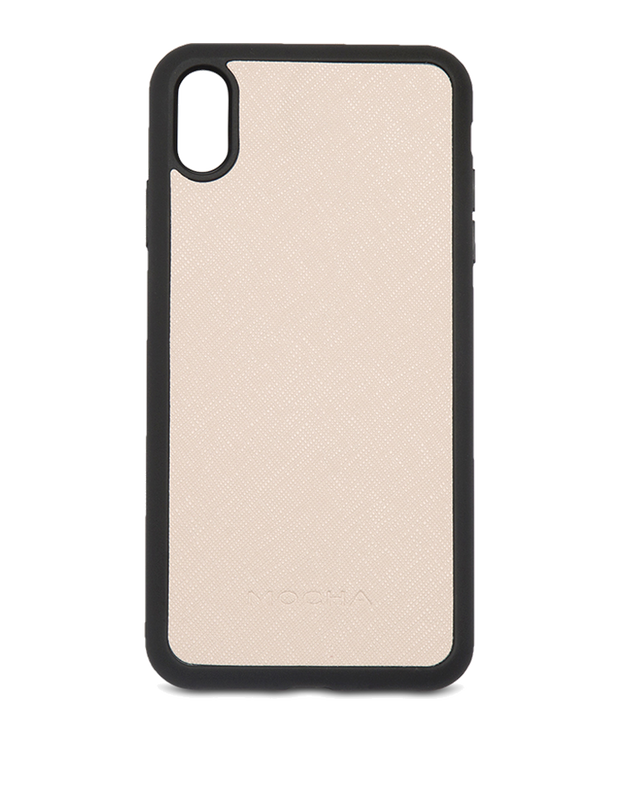 Mocha Jane Leather Hard Case For iPhone XS Max - Blush - Mocha