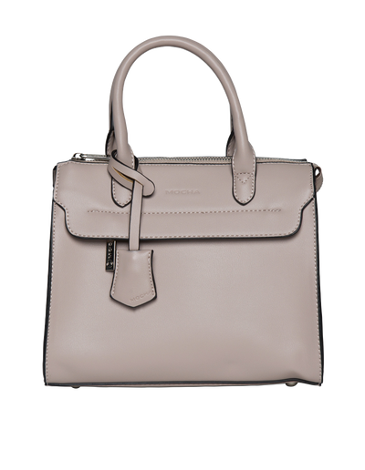Mocha Constance Top Handle Tote Bag - Blush - Mocha
