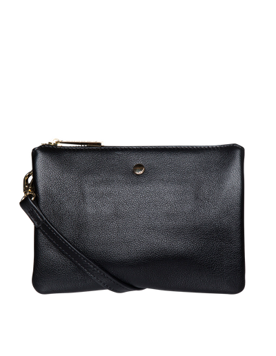 Mocha Stella Double Leather Crossbody Bag - Black - Mocha