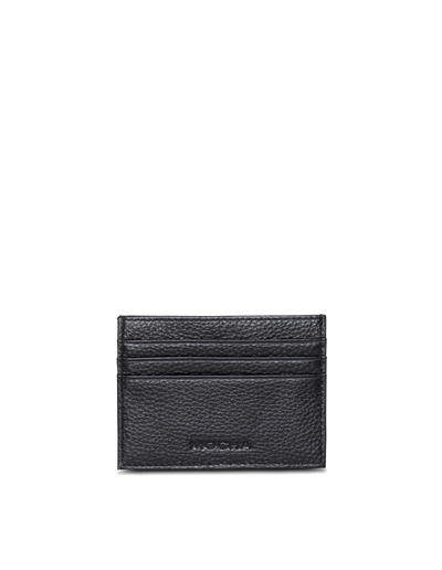 Mocha Leather Card Holder - Black - Mocha