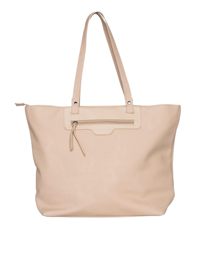 Mocha Ginni Top-Zip Tote Bag - Nude - Mocha
