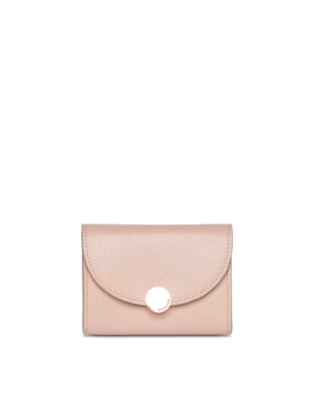 Mocha Brianna Leather Mini Coin Wallet - Taupe - Mocha