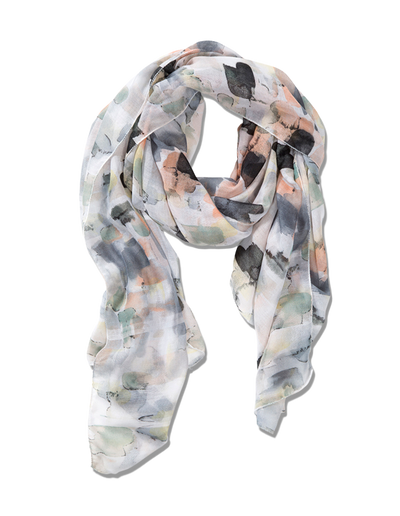 Mocha Summer Drops Scarf - Grey/Green - Mocha