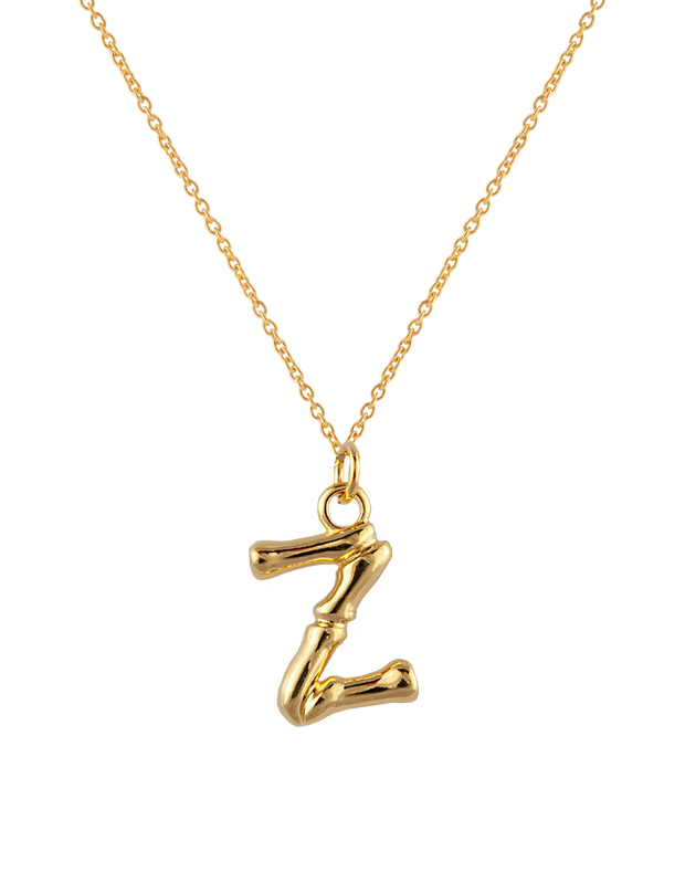 Zahar Initial Necklace - Z - Mocha