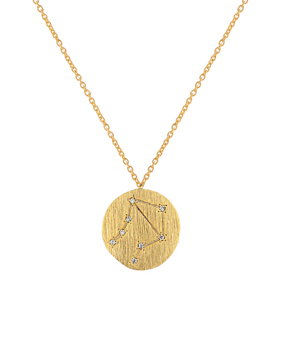 Zahar Zodiac Necklace - Libra - Mocha
