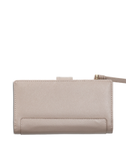 Mocha Premium Long Leather Wallet - Taupe - Mocha