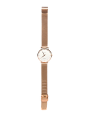 Mocha 32mm Watch w/ Cubic Zirconia - White/Rose Gold Mesh - Mocha