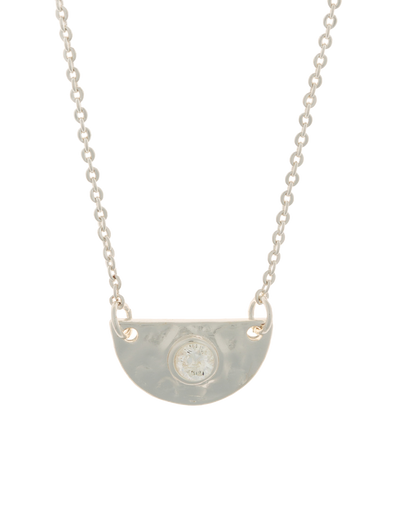 Elly Lou Faith Necklace w/ Cubic Zirconia - Silver - Mocha