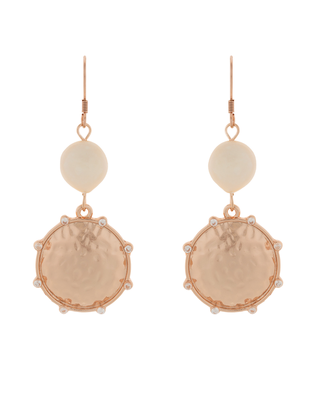 Elly Lou You Are Strong Earrings - Rose Gold - Mocha