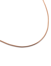 "Kirstin Ash Snake Chain 18"" Necklace w/ 18K Rose Gold Vermeil - Mocha"