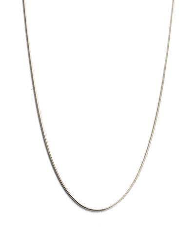 "Kirstin Ash Snake Chain 18"" Necklace w/ Sterling Silver - Mocha"