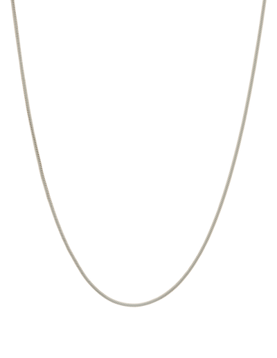 Mocha Snake Chain Sterling Silver Necklace - Silver - Mocha