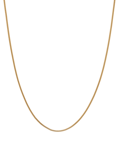 Mocha Snake Chain Sterling Silver Necklace - Gold Vermeil - Mocha