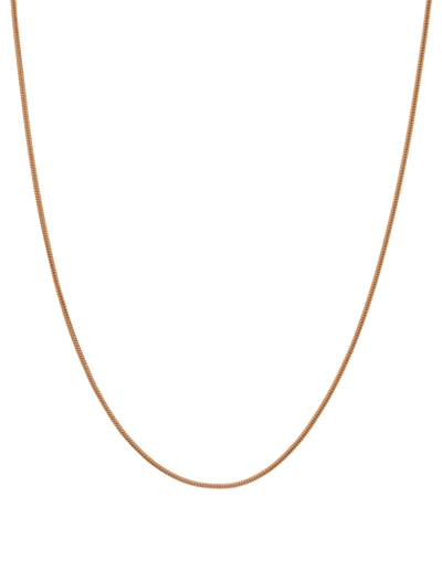 Mocha Snake Chain Sterling Silver Necklace - Rose Gold Vermeil - Mocha
