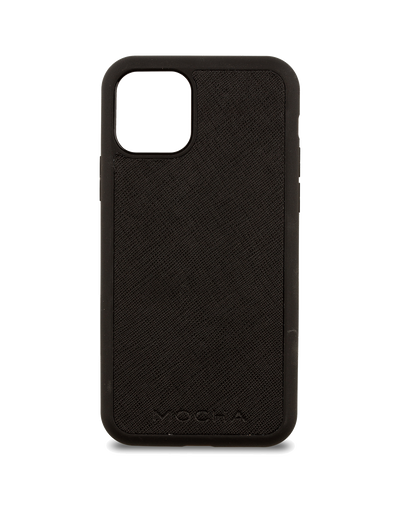 Mocha Jane Leather Hard Case For iPhone 11 Pro - Black - Mocha