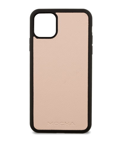 Mocha Jane Leather Hard Case For iPhone 11 Pro Max - Blush - Mocha