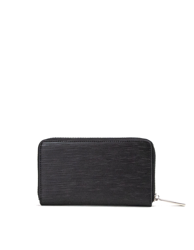 Mocha Zabrina Small Leather Wallet - Black - Mocha
