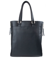 Mocha Michelle Double Zip Tote - Black - Mocha