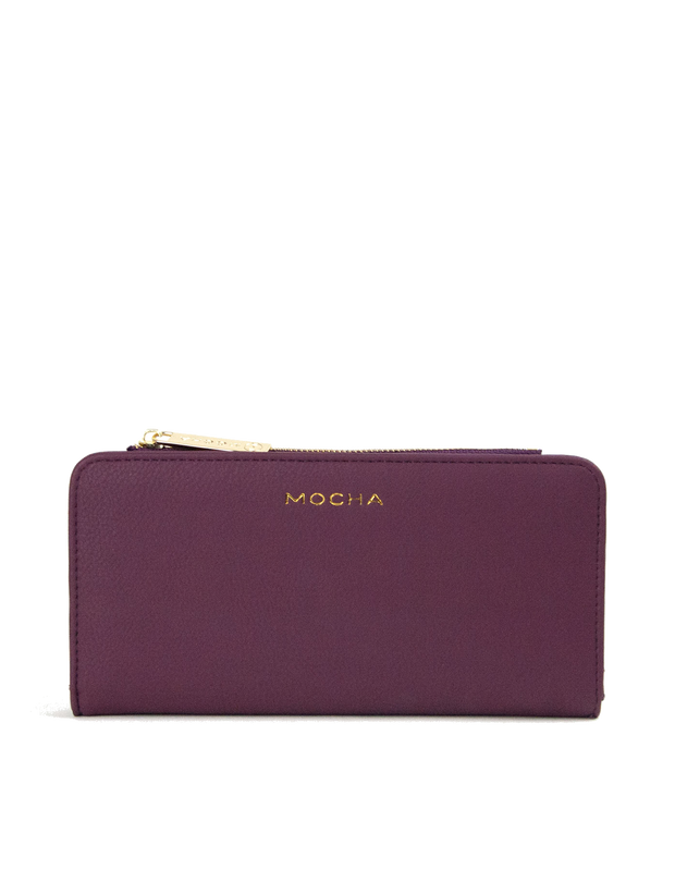 Mocha Misa Long Wallet - Burgundy - Mocha