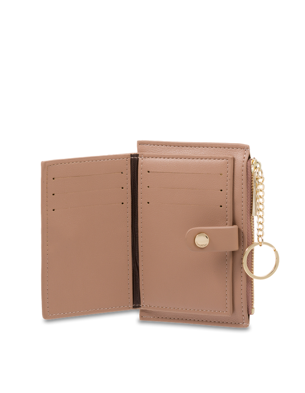 Mocha Simple Clip Coin Wallet - Taupe - Mocha