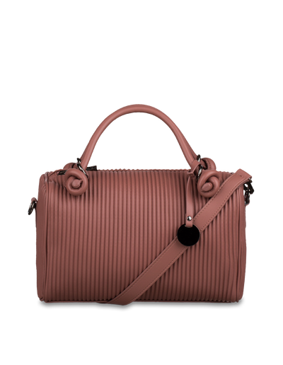 Mocha Angela Boston Bag - Mauve - Mocha