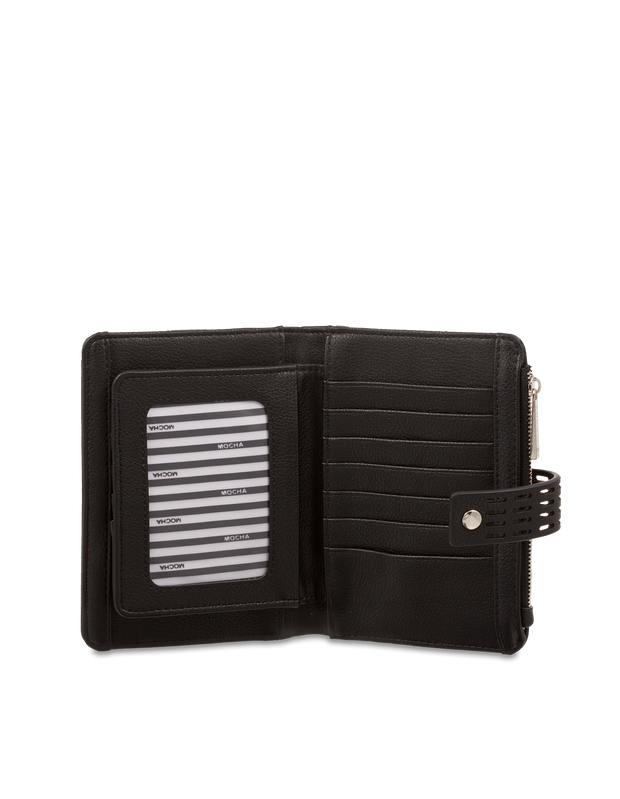 Mocha Polly Perforated Wallet - Black - Mocha