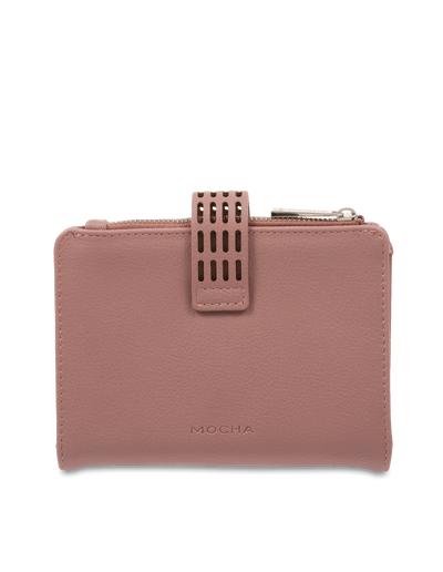 Mocha Polly Perforated Wallet - Mauve - Mocha